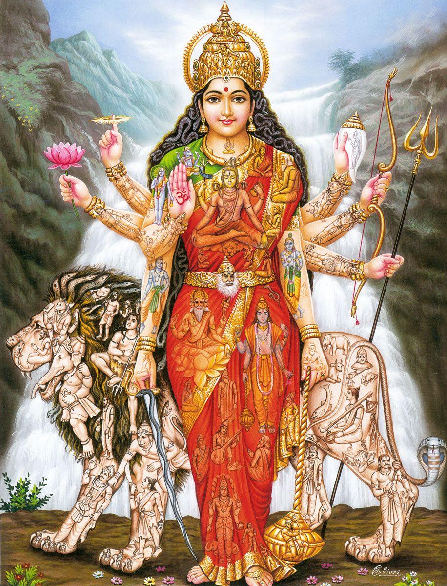 dea La Dea genera ogni altro essere e comprende il Multiverso - by C. Sivas dollsofindia.com © dell'autore