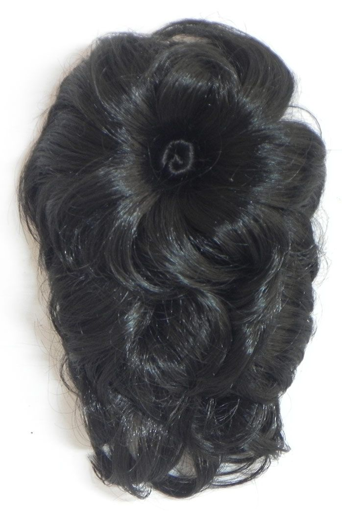 Clip On Designer Black Curly Hair
