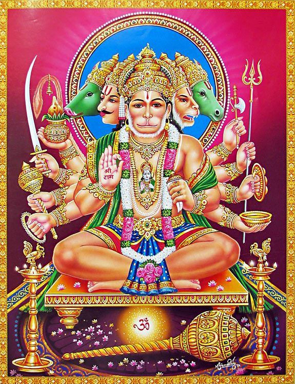 Panchmukhi hanuman - Panchmukhi hanuman image ...