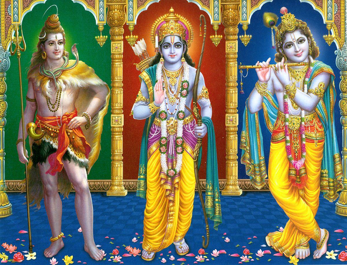 Shiva, Rama And Krishna