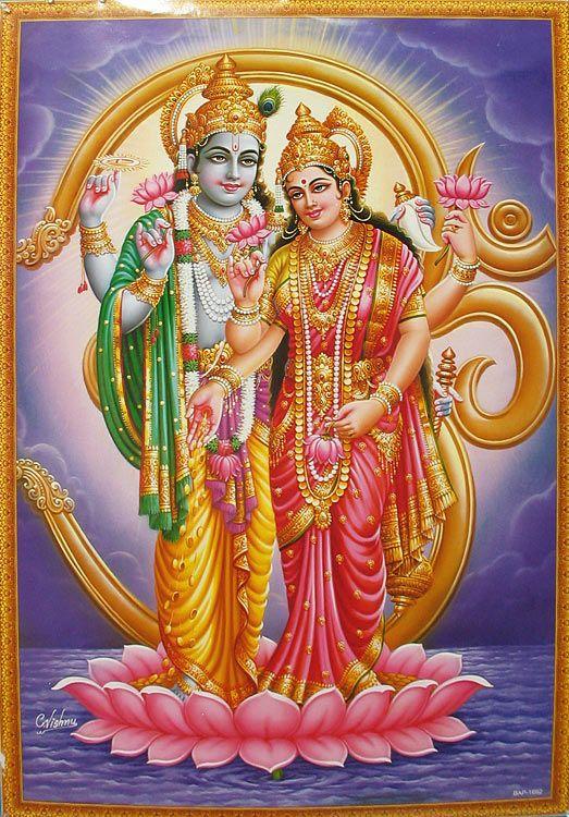 Vishnu and Lakshmi  Vishnu and Laks...