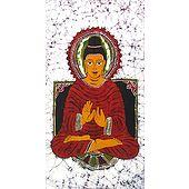 Gautam Buddha - Batik Painting on Cloth