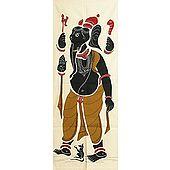 Appliqued Ganesha on Cotton Cloth