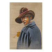 Tibetan Old Man - Painting on Cotton Cloth