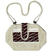 Jute Bag with Two Zipped Pocket
