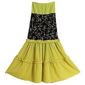 Yellow with Black Skirt
