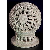 Stone Carved Candle Stand