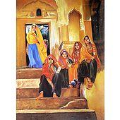 Rajasthani Village Girls - Poster