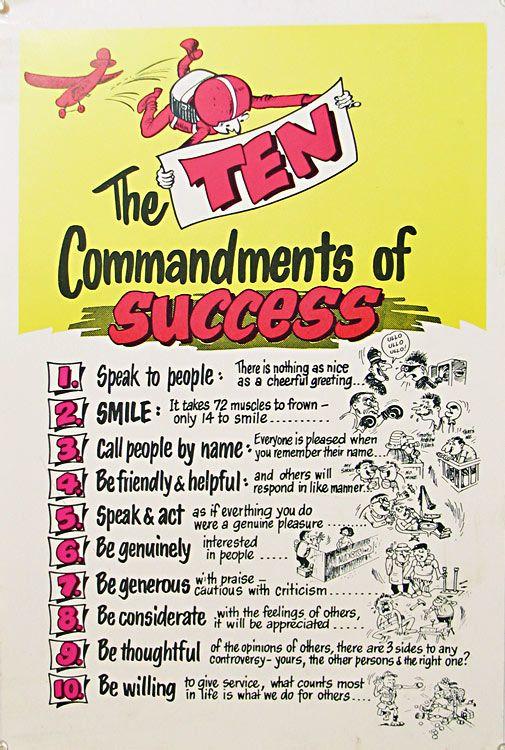 INSPIRATIONAL POSTER Ten Indian Commandments II