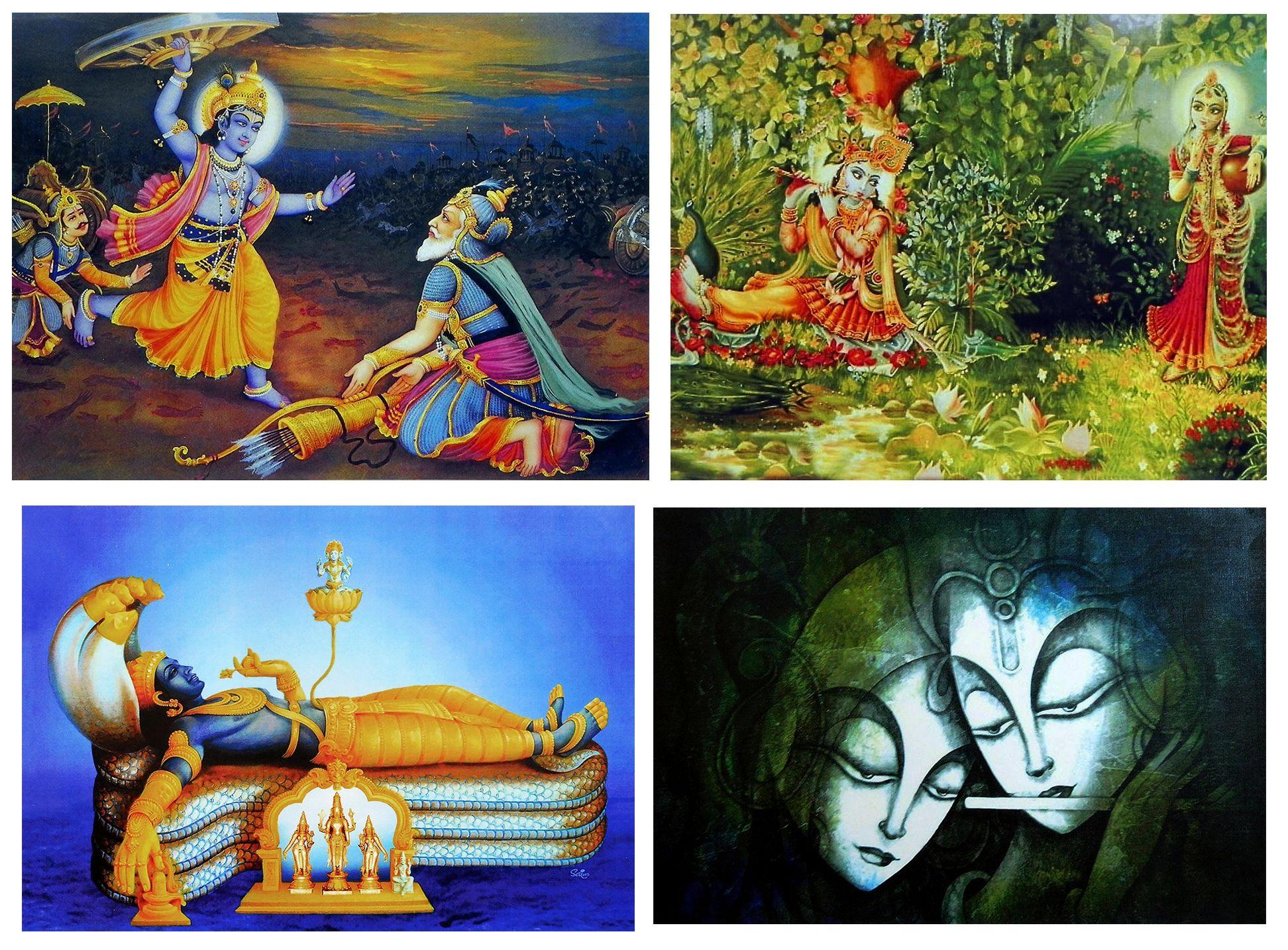 Hindu Deities Set Of 4 Posters