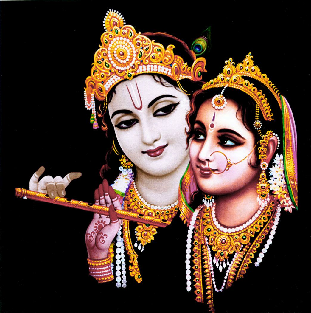 radha krishna on card paper 6 25 x 6 25 inches unframed