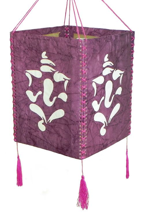 Hanging mauve foldable lamp shade with white paper cut out ganesha hanging mauve foldable lamp shade with white paper cut out ganesha currently out of stock aloadofball Image collections