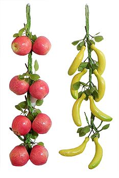 2 Bunches of Apples and Bananas - Wall Hanging