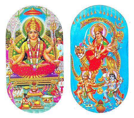 Lakshmi and Bhagawati - Set of 2 Stickers