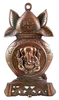 Ganesha on Kalash - Wall Hanging-Cum-Stand
