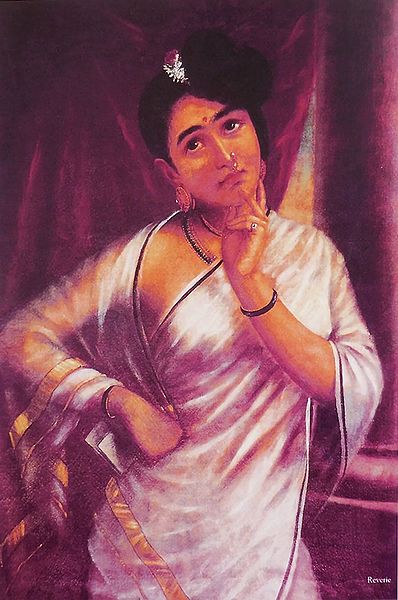 Reverie - Portrait of Keralite Lady Day Dreaming