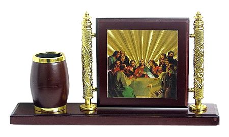 Pen Stand with Last Supper Photo