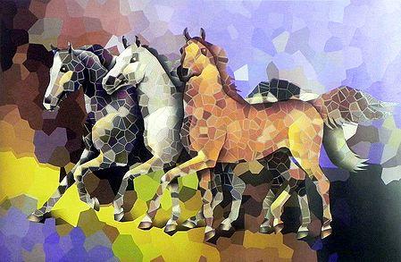 Mosaic Horses