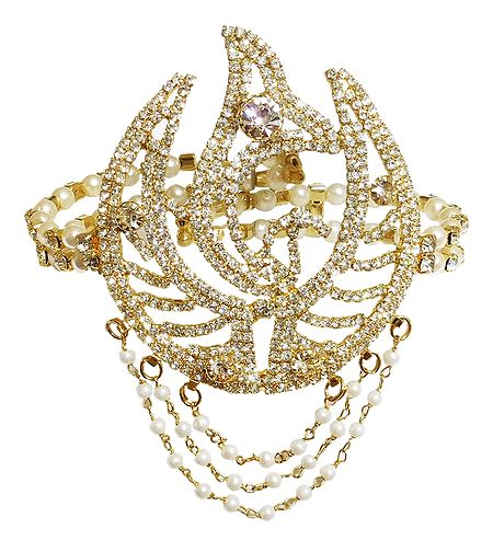 White Stone Studded Armlet (To Wear on Upper Arm)