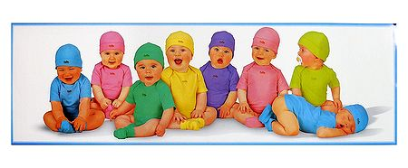 Coloful Babies - Poster