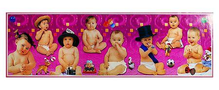 Playful Babies - Poster