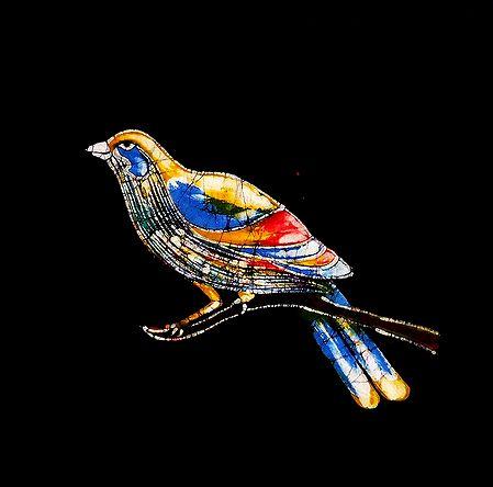 Colorful Bird - Batik Painting