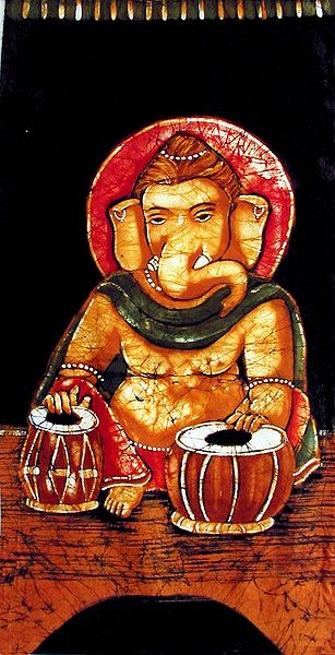 Ganesha Playing Tabla