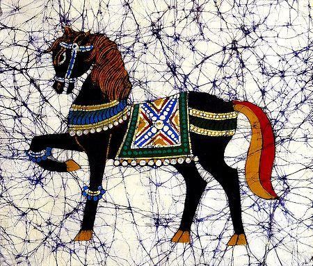 Royal Horse - Batik Painting