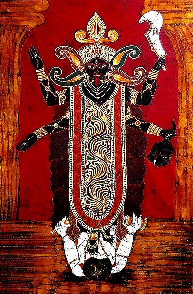 Goddess Kali - Batik Painting on Cloth