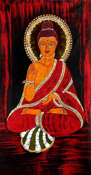 Lord Buddha - Batik Painting