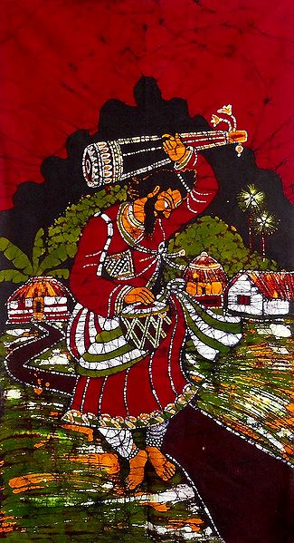Baul Singing and Dancing - Batik Painting