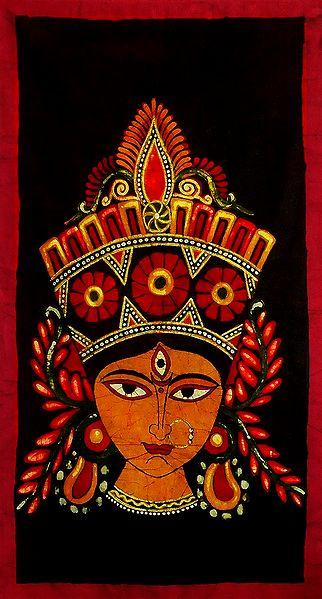 Face of Durga - Batik Painting