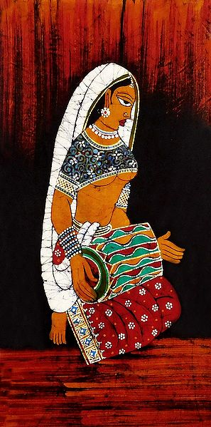 Lady Playing Dholak