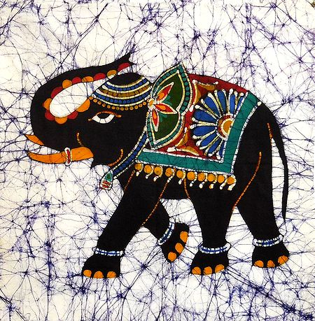 Royal Elephant - Batik Painting