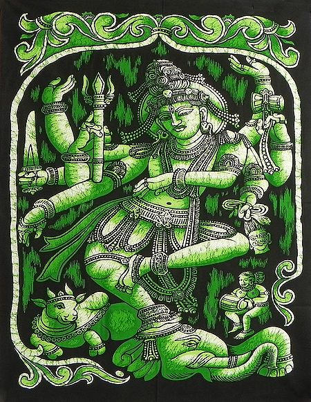 Nataraja - The Lord of Dances - Printed Batik