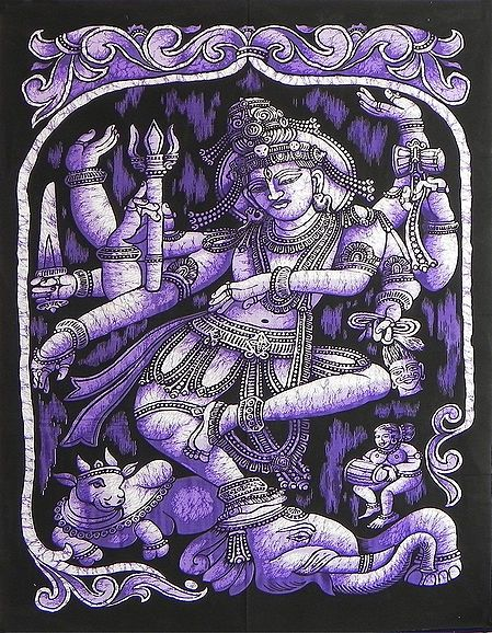 Nataraja - The Cosmic Dancer - Printed Batik