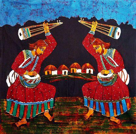 Pair of Baul Singers