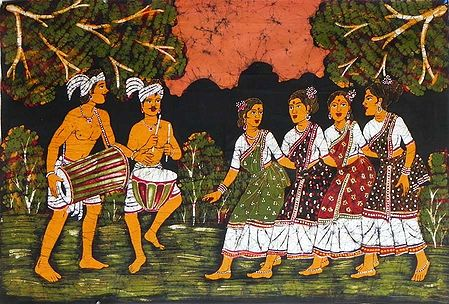 Santhal Dancers from West Bengal