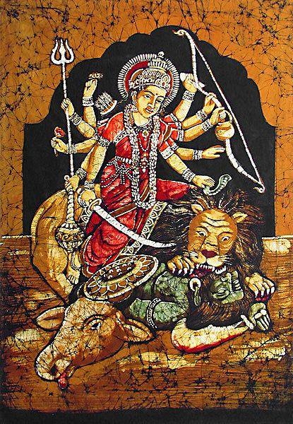 Goddess Durga Slaying the Demon Mahishasura
