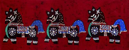 Three Decorative Horses