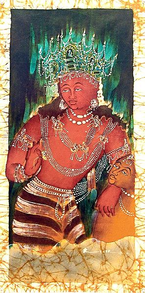 Bodhisattva From Ajanta Cave Painting
