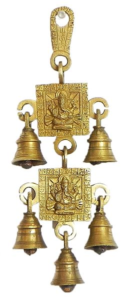Hanging Bell with Ganesha - Wall Hanging