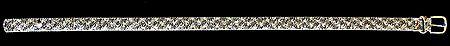 Black and White Glitter Belt