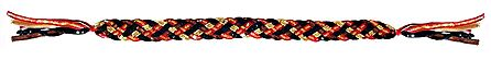 Black, Red, Golden Cloth and Sequin Braided Belt