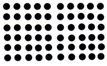 60 Black Felt Round Bindis