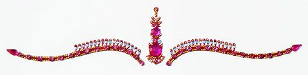 Dark Magenta Stone Studded Bridal Decoration