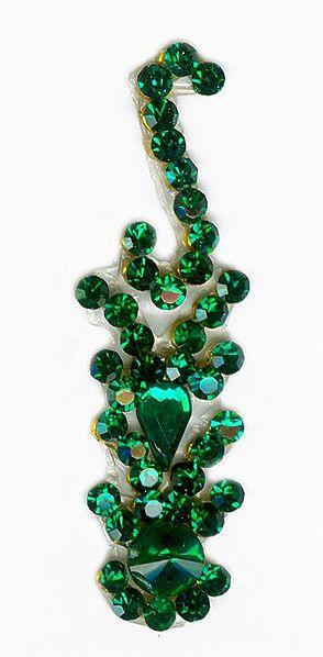 Green Stone Studded Single Bindi