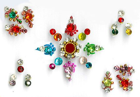 Multicolor Designer Stone Bindis