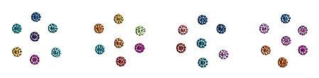 Multicolor Glitter Small Round Bindis