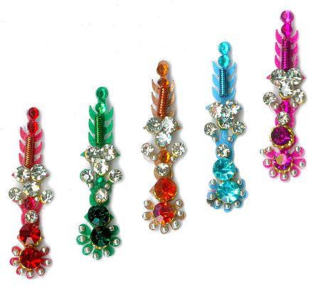 Multicolor Stone Studded Long Bindis